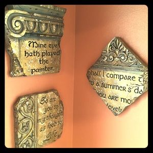 Other - Shakespearean quotes wall decor